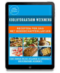 tablet koolhydraatarm weekmenu